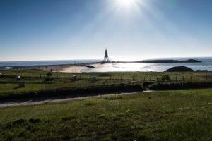 Wahrzeichen Cuxhaven die Kugelbake an der Nordsee