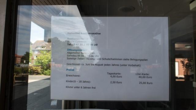 oeffnungszeiten Hallenbad Beethovenstrasse - Hallenbad Beethovenallee Cuxhaven - Frauenschwimmen im Hallenbad Cuxhaven