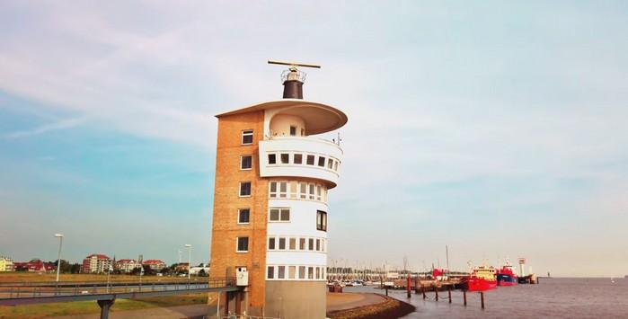 Radarturm Alte Liebe - Windsemaphor Cuxhaven - Windstärkemesser an der Alten Liebe in Cuxhaven Döse