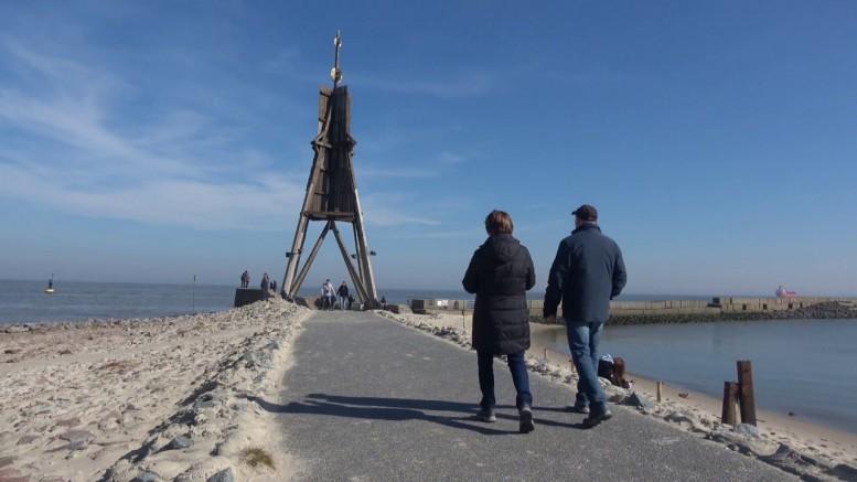 an der kugelbake im nordseeheilb - Webcam Kugelbake Cuxhaven in Cuxhaven Döse [ Video ]