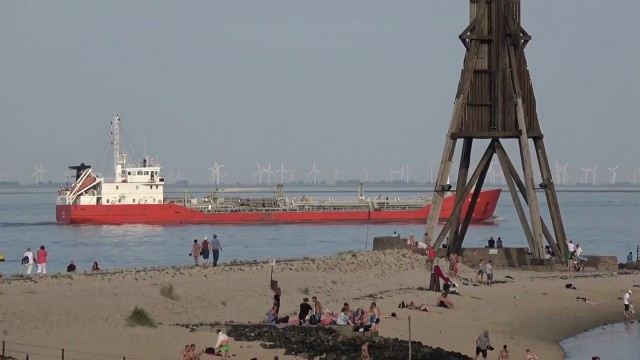 cuxhaven kugelbake schiffe sonne - Barrierefreier Strand - Behindertengerechte Zugang zum Strand