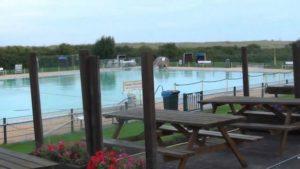 Meerwasserfreibad Steinmarne an der Nordsee [ Nordsee Video ]