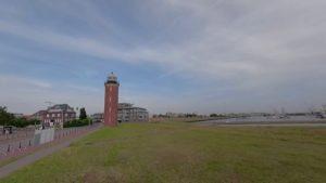 Hamburger Leuchtturm in Cuxhaven an der Alte Liebe