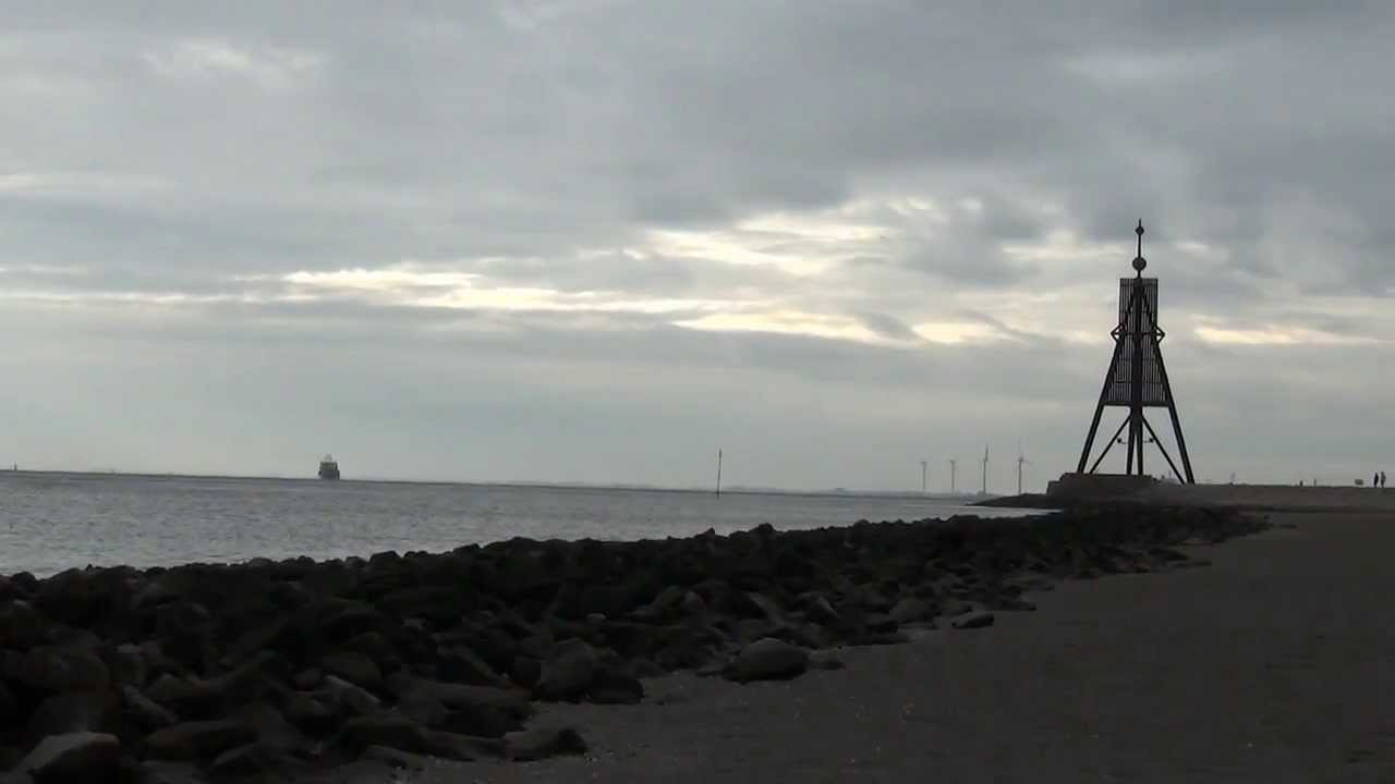 kugelbake in cuxhaven muendung d - Webcam Kugelbake Cuxhaven in Cuxhaven Döse [ Video ]