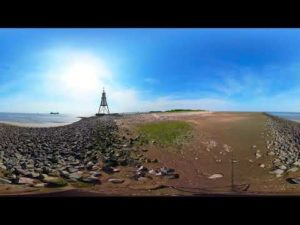 Kugelbake Cuxhaven bei Ebbe [ Video ] – Nordseeheilbad Cuxhaven
