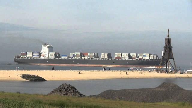 nordseeheilbad cuxhaven schiffsv - Große Schiffe vor Cuxhaven - Cuxhaven Schiffe gucken