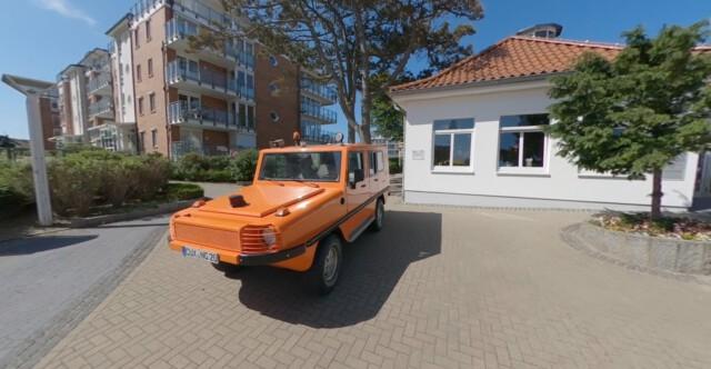 Einsatzfahrzeug Ranger Alpha - Ranger Alpha vor der Kurverwaltung Cuxhaven-Duhnen