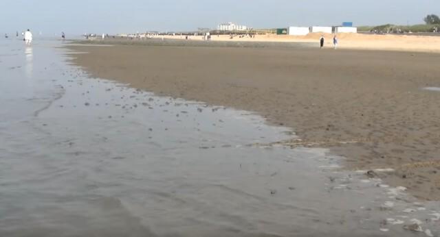 Gezeiten Ebb und Flut 4 - Ebbe und Flut Nordsee in Cuxhaven-Duhnen   Gezeiten der Nordsee [ Video ]