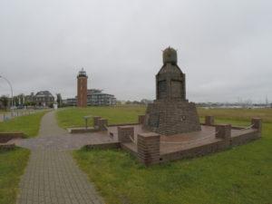Minensucher-Ehrenmal in Cuxhaven an der Alten Liebe