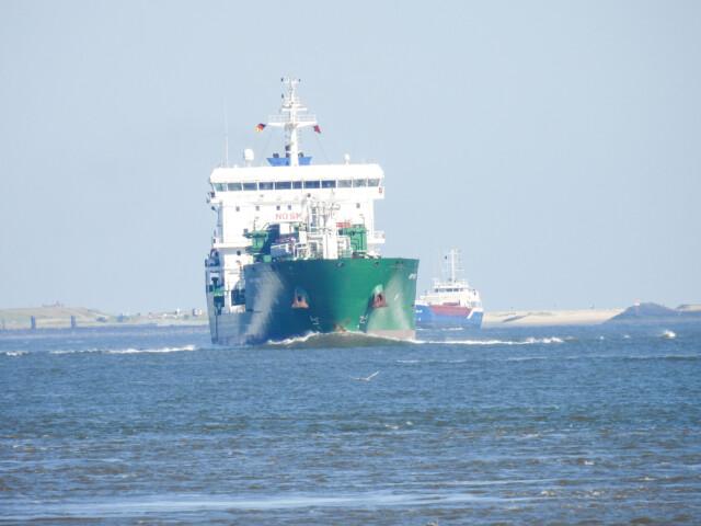 Schiffe gucken in Cuxhaven Altenbruch
