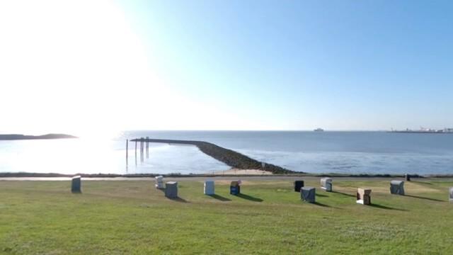 badestrand grimmershoern bucht i - Grimmershörner Bucht in Cuxhaven Döse - Urlaub in Döse [ Video ]