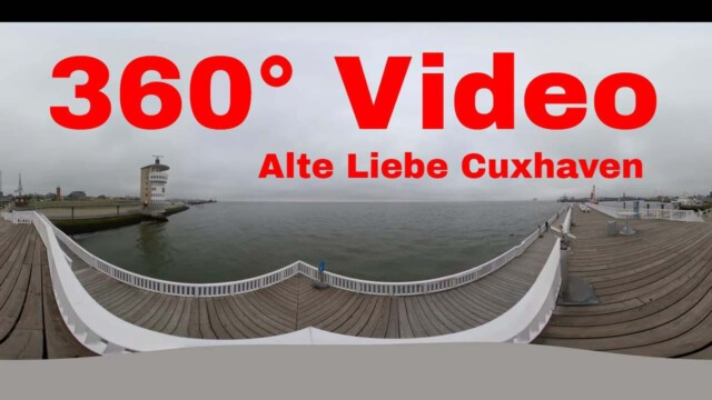 gopro max 360 grad video vom pie - Webcam Havenhostel Cuxhaven mit Blick auf Amerikahafen