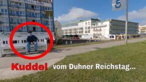 Kuddel vom Duhner Reichstag blickt hinaus aufs Meer [ Video ]