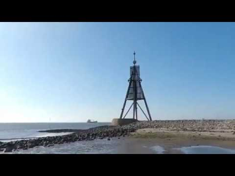 kugelbake bei ebbe video aus cux - Kugelbake in Cuxhaven [ Video ]