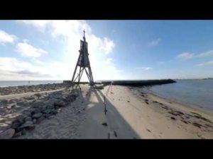 Kugelbake Cuxhaven mit 360 Grad Panorama Aufnahme [ Video ]