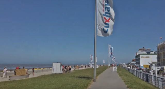 Der Strand und die Strandpromenade in Duhnen