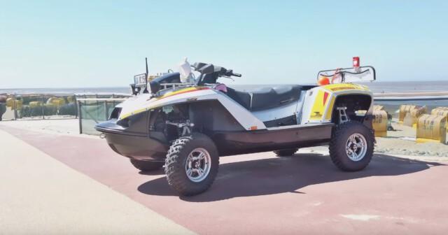 Ein Rettungsfahrzeug  - Cuxhaven Tourismus - Willkommen in Cuxhaven Duhnen  [ Video ]