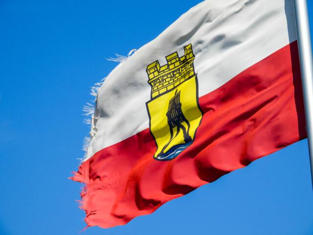 Flagge Niedersachsen - Cuxhaven Lockdown 03.11.2020 - CUXHAVEN-Rund um die ALTE LIEBE