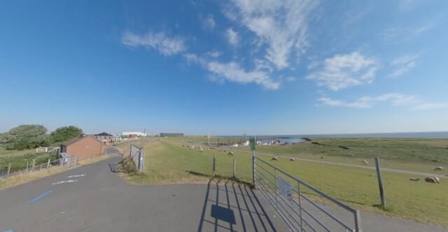 Kleiner Hafen in Altenbruch - Dicke Berta Cuxhaven | 360 Grad Video vom Leuchtturm