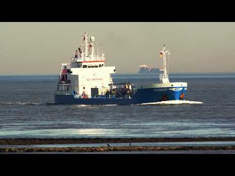 grosse schiffe passieren cuxhave - Schiffe vor Cuxhaven - Shipspotting in Cuxhaven-Altenbruch