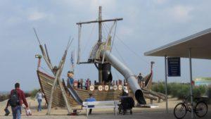 Piratenschiff Spielplatz am Strandhaus Döse