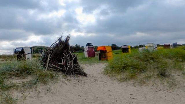 Strandkörbe an der Kugelbake