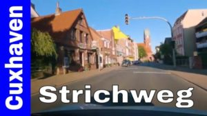 Strichweg Cuxhaven Döse – Fahrt mit dem Auto durch den Strichweg