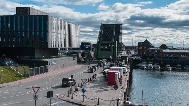Klappbruecke Cuxhaven - Die Cuxhavener Klappbrücke