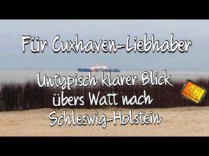 Blick über das Wattenmeer nach Schleswig- Holstein & Insel Neuwerk