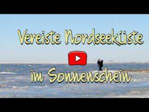 Cuxhaven: Dick vereiste Nordsee entlang der Nordseeküste