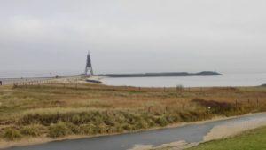 Winter in Cuxhaven – Cuxhaven Kugelbake im Winter 2020