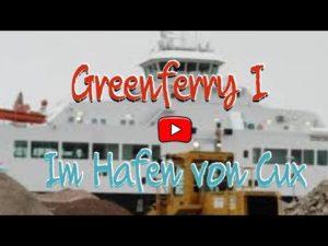 Greenferry I (Elbferry) im Hafen von Cuxhaven am 11.2.21