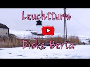 Dicke Berta Leuchtturm im Schnee in Cuxhaven-Altenbruch