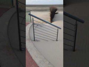 Unberührte Sandverwehungen am Strand von Cuxhaven | Sturm Tristan