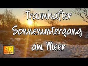 Wundervoller Sonnenuntergang im stark vereisten Watt | Cuxhaven Sahlenburg Sonnenuntergang am Meer