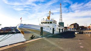 MS Fair Lady an der Alte Liebe Cuxhaven | Nach Helgoland mit Fair Lady