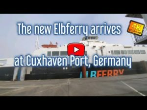 Greenferry 1 the new Ferry arrived in Cuxhaven, Germany