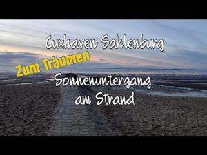 Sonnenuntergang Sahlenburg am Sahlenburger Strand