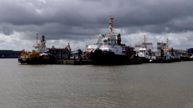 Schlepper Schiffe in Cuxhaven